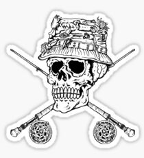 FIshermans Skull Sticker