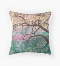 Over Hanging the Water Throw Pillow