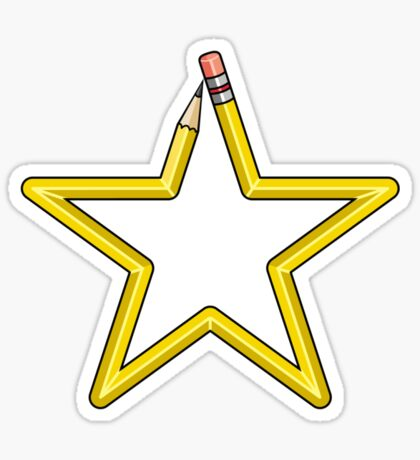 Pencil Star Sticker