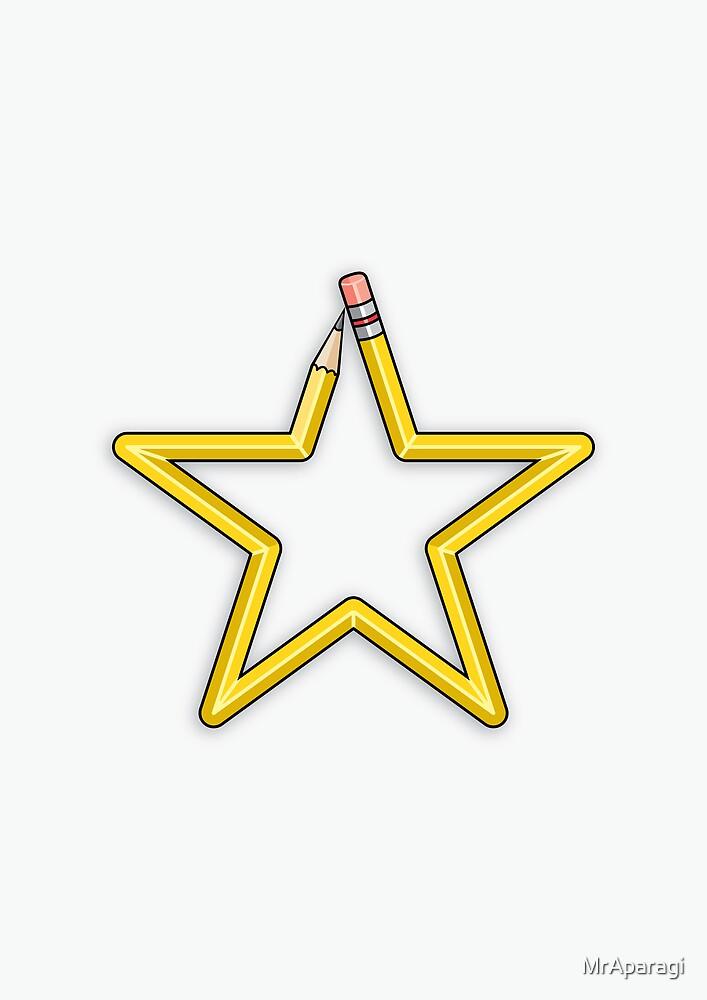 Pencil Star by MrAparagi