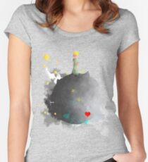 The Little Prince Art Print Women's Fitted Scoop T-Shirt