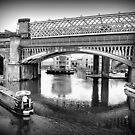 Castlefield Railway Viaduct. by Lilian Marshall