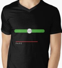 Pape station Men's V-Neck T-Shirt