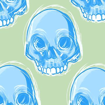 Blue Skulls by Lovonne