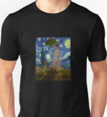 Monet Umbrella on a Starry Night Unisex T-Shirt