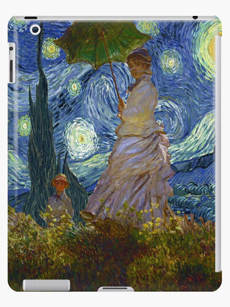 Monet Umbrella on a Starry Night by Charles McFarlane