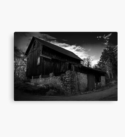 Old Abandoned Barn Canvas Print