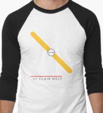 St. Clair West station Men's Baseball ¾ T-Shirt