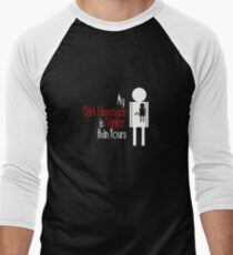 My Dark Passenger is Darker than Yours Men's Baseball ¾ T-Shirt