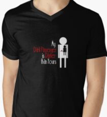 My Dark Passenger is Darker than Yours Men's V-Neck T-Shirt