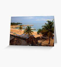 Jamaican Coast Greeting Card