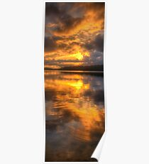 Brooding Morn - Narrabeen Lakes Sydney Australia (Vertical Crop) - The HDR Experience Poster