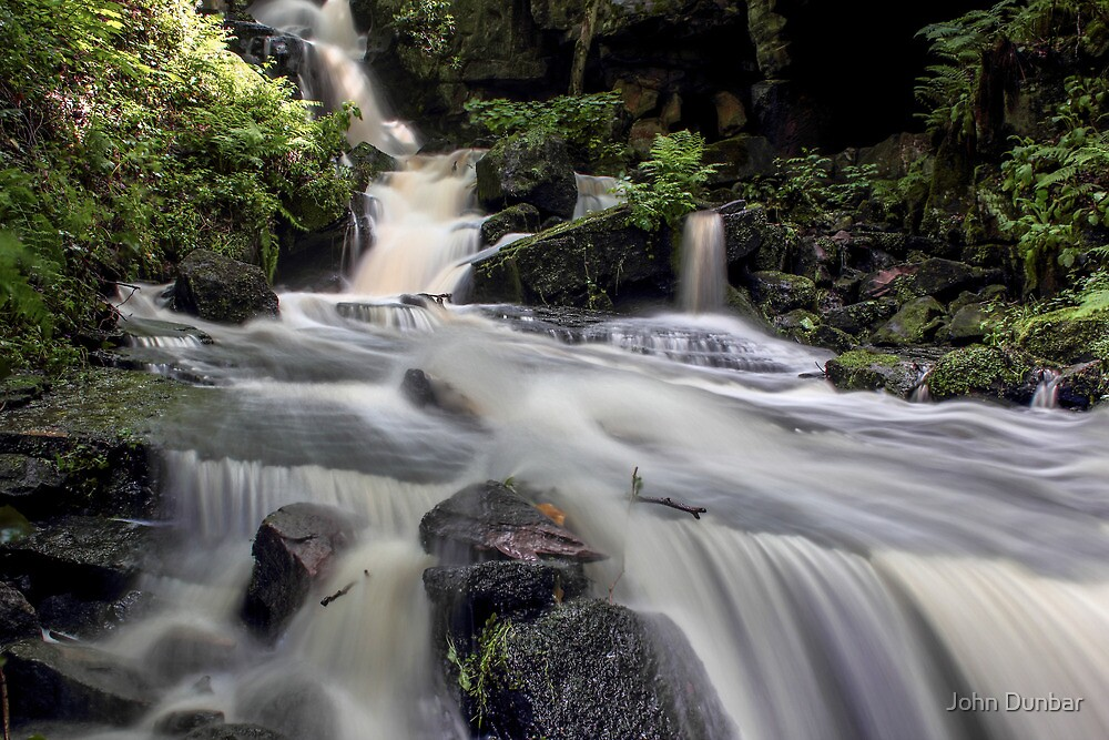 Waterfalls After the Rains by John Dunbar