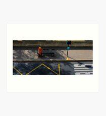 People of Paris. Bustop2 Art Print
