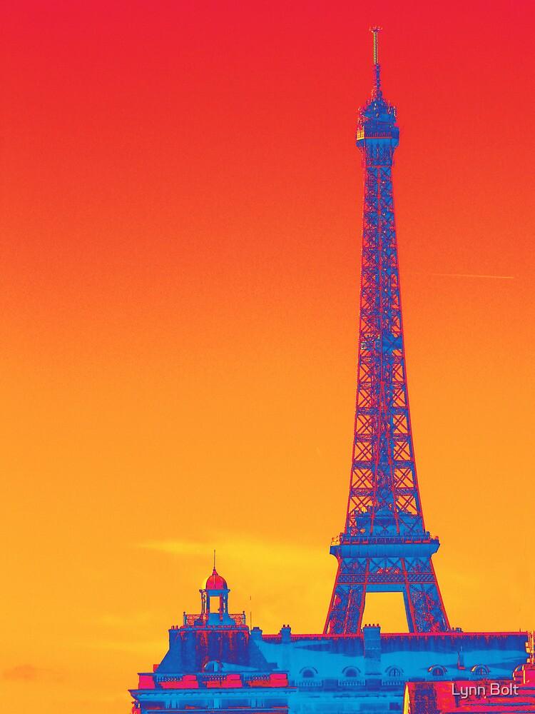 Psychedelic Eiffel Tower by Lynn Bolt