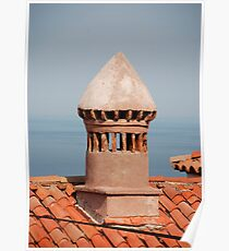 Chimney in Piran Poster