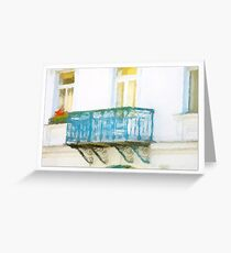 Balcony Greeting Card