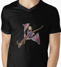 Ezreal riding Shyvana as Eragon with Saphira Men's V-Neck T-Shirt