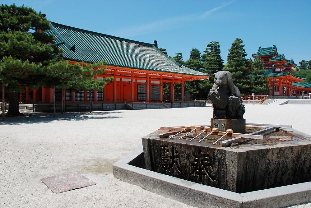 Purifiaction Fountain, Heian-Jingu Shrine by jojobob