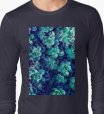 Plants of Blue And Green Long Sleeve T-Shirt
