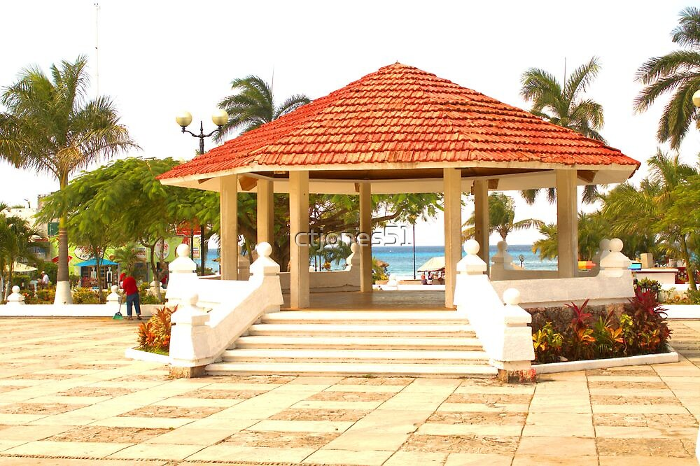 The Gazebo on Cozumel Plaza Downtown by ctjones51