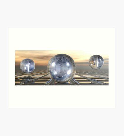 Three Spheres Art Print