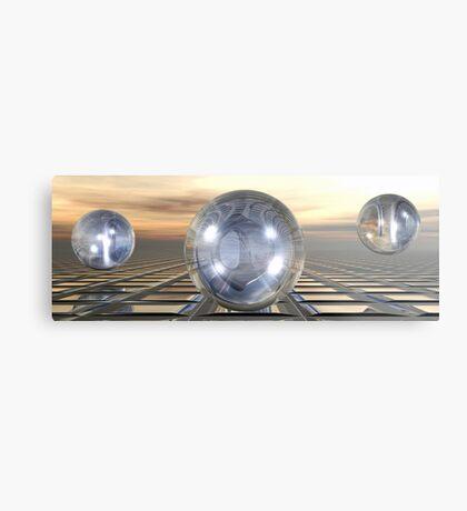Three Spheres Metal Print