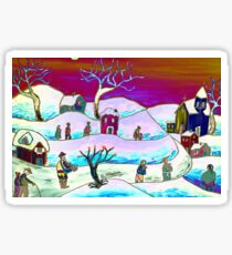 A winter scene Sticker