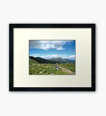 Presidential Mountain Range Framed Print