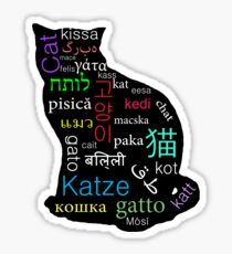 A Cat of Many Languages Sticker