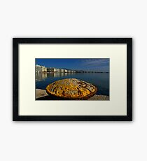 salonika port Framed Print