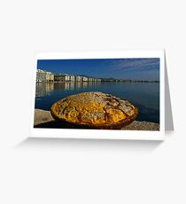 salonika port Greeting Card
