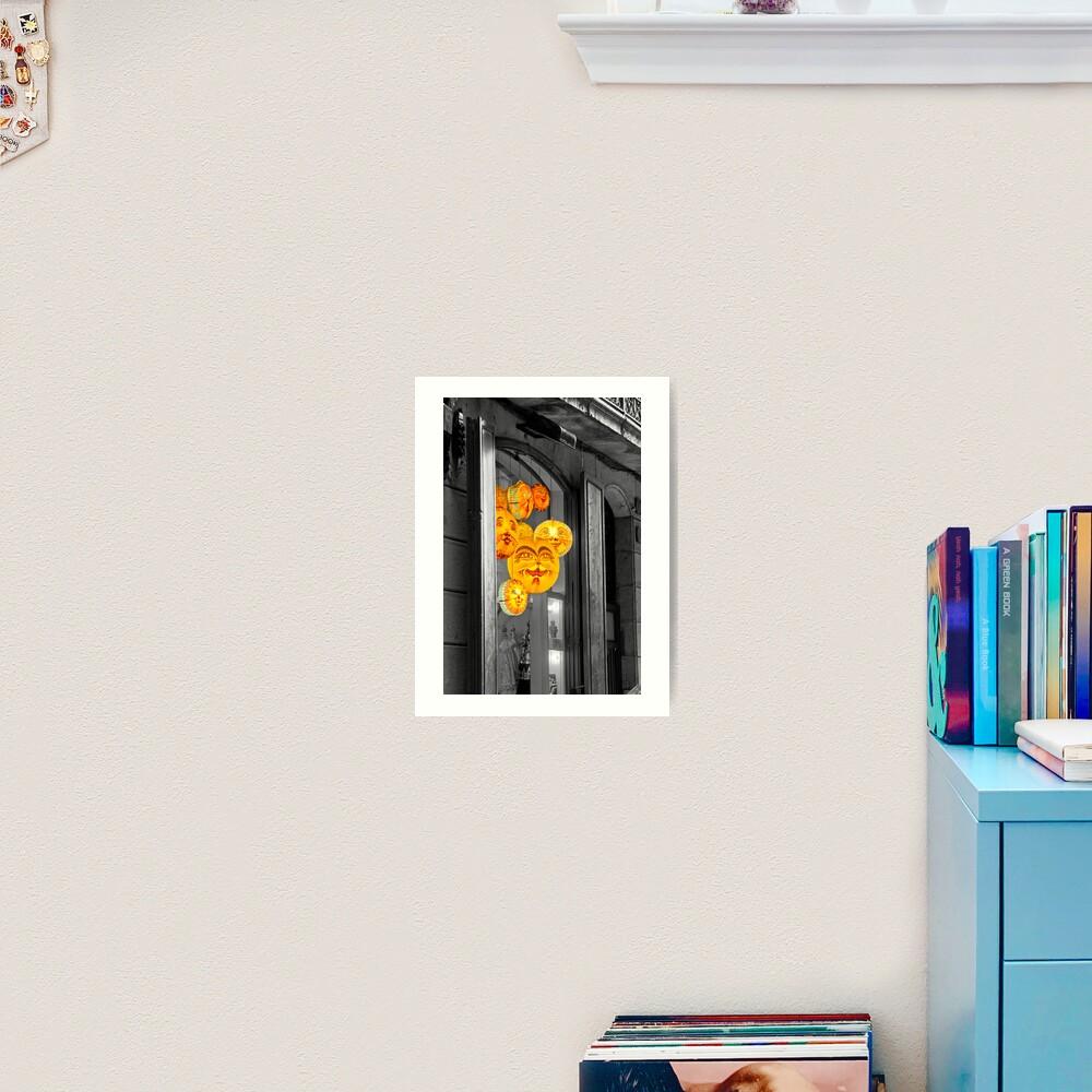 A colourful window Art Print