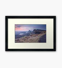Isle of Skye : Quiraing Moonset Framed Print