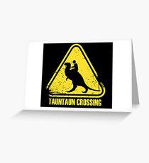 Beware! Tauntaun Crossing! Greeting Card