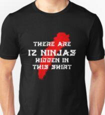 12 Hidden Ninjas (Black) T-Shirt