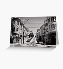Cnr. Hyde and Washington. San Franscisco - USA Greeting Card