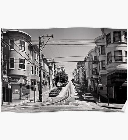 Cnr. Hyde and Washington. San Franscisco - USA Poster