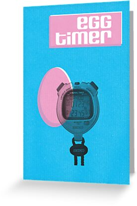 Egg Timer Easter Card by rperrydesign