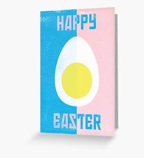 Rusky Easter Card - Blue & Pink Greeting Card