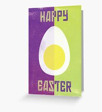 Rusky Easter Card - Lime & Purple Greeting Card