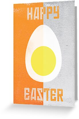 Rusky Easter Card - Orange & Grey by rperrydesign