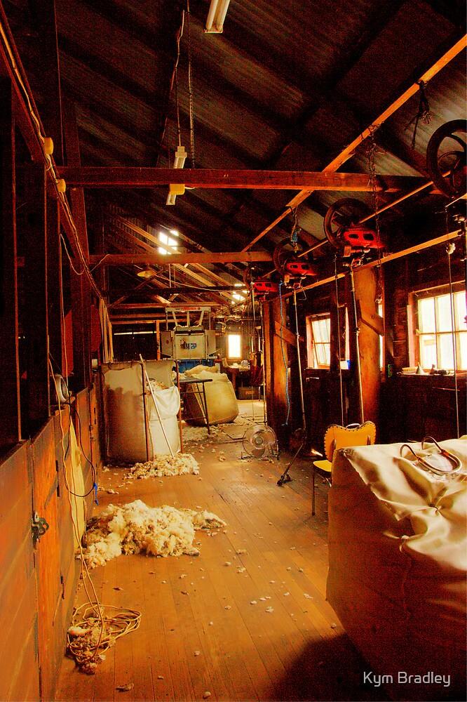 Lunch Break  Shearing shed Rural NSW  Australia  by Kym Bradley