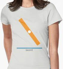 Station Sauvé Womens Fitted T-Shirt
