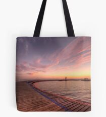 Sunrise over Promenade Tote Bag