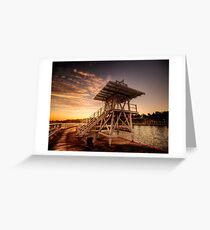Dive Tower Rise Greeting Card