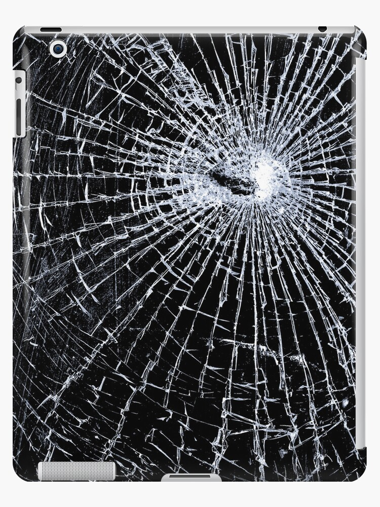 Broken Glass 2 iPad Black by Brian Carson