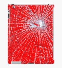 Broken Glass 2 iPad Red iPad Case/Skin