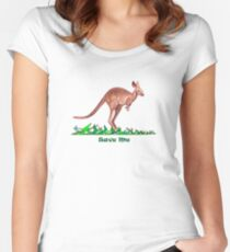 Save the Kangaroo Women's Fitted Scoop T-Shirt