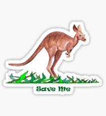 Save the Kangaroo Sticker